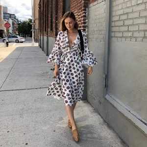 Madewell x Karen Walker Collab peasant dress